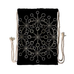 Ornate Chained Atrwork Drawstring Bag (small) by dflcprints