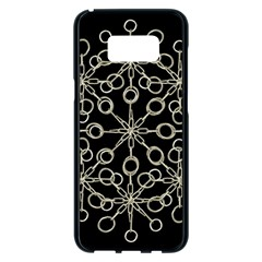 Ornate Chained Atrwork Samsung Galaxy S8 Plus Black Seamless Case by dflcprints