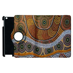 Aboriginal Traditional Pattern Apple Ipad 3/4 Flip 360 Case by Onesevenart