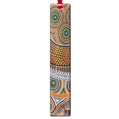 Aboriginal Traditional Pattern Large Book Marks by Onesevenart