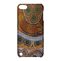 Aboriginal Traditional Pattern Apple Ipod Touch 5 Hardshell Case With Stand by Onesevenart