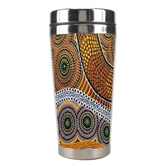 Aboriginal Traditional Pattern Stainless Steel Travel Tumblers by Onesevenart