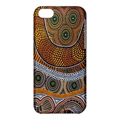 Aboriginal Traditional Pattern Apple Iphone 5c Hardshell Case by Onesevenart