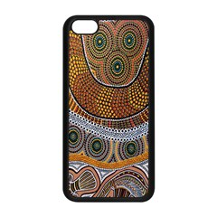 Aboriginal Traditional Pattern Apple Iphone 5c Seamless Case (black) by Onesevenart