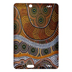 Aboriginal Traditional Pattern Amazon Kindle Fire Hd (2013) Hardshell Case by Onesevenart