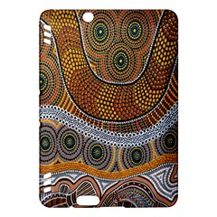Aboriginal Traditional Pattern Kindle Fire Hdx Hardshell Case by Onesevenart
