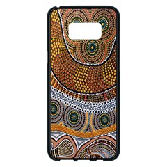 Aboriginal Traditional Pattern Samsung Galaxy S8 Plus Black Seamless Case by Onesevenart