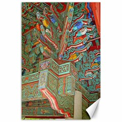 Traditional Korean Painted Paterns Canvas 24  X 36  by Onesevenart