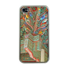 Traditional Korean Painted Paterns Apple Iphone 4 Case (clear) by Onesevenart