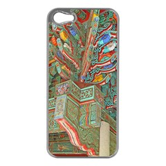 Traditional Korean Painted Paterns Apple Iphone 5 Case (silver) by Onesevenart