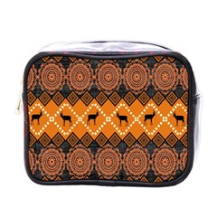 Traditiona  Patterns And African Patterns Mini Toiletries Bags by Onesevenart