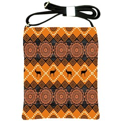 Traditiona  Patterns And African Patterns Shoulder Sling Bags by Onesevenart