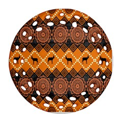 Traditiona  Patterns And African Patterns Round Filigree Ornament (two Sides) by Onesevenart