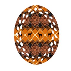Traditiona  Patterns And African Patterns Ornament (oval Filigree) by Onesevenart