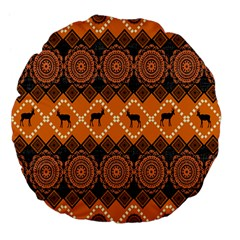 Traditiona  Patterns And African Patterns Large 18  Premium Flano Round Cushions by Onesevenart