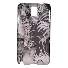 Chinese Dragon Tattoo Samsung Galaxy Note 3 N9005 Hardshell Case by Onesevenart