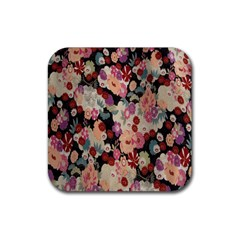 Japanese Ethnic Pattern Rubber Square Coaster (4 Pack)  by Onesevenart