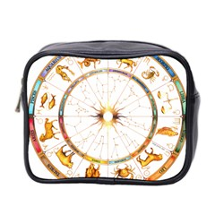 Zodiac  Institute Of Vedic Astrology Mini Toiletries Bag 2 Side by Onesevenart