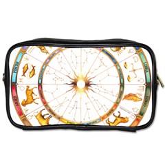 Zodiac  Institute Of Vedic Astrology Toiletries Bags by Onesevenart