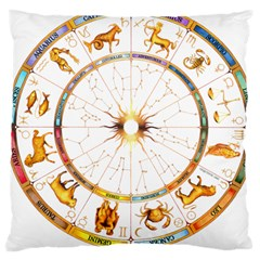 Zodiac  Institute Of Vedic Astrology Large Cushion Case (two Sides) by Onesevenart