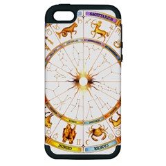 Zodiac  Institute Of Vedic Astrology Apple Iphone 5 Hardshell Case (pc+silicone) by Onesevenart