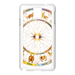 Zodiac  Institute Of Vedic Astrology Samsung Galaxy Note 3 N9005 Case (white) by Onesevenart