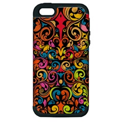 Art Traditional Pattern Apple Iphone 5 Hardshell Case (pc+silicone) by Onesevenart