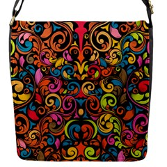 Art Traditional Pattern Flap Messenger Bag (s) by Onesevenart