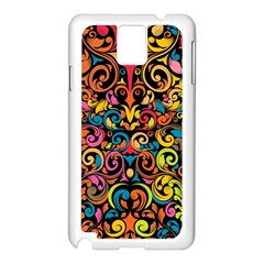 Art Traditional Pattern Samsung Galaxy Note 3 N9005 Case (white) by Onesevenart
