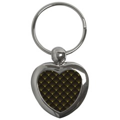 Abstract Stripes Pattern Key Chains (heart)  by Onesevenart