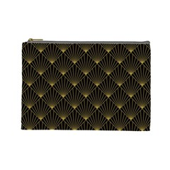 Abstract Stripes Pattern Cosmetic Bag (large)  by Onesevenart