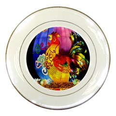 Chinese Zodiac Signs Porcelain Plates by Onesevenart