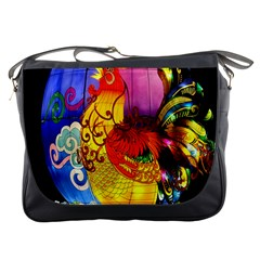 Chinese Zodiac Signs Messenger Bags by Onesevenart
