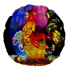 Chinese Zodiac Signs Large 18  Premium Flano Round Cushions by Onesevenart