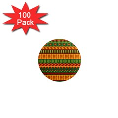 Mexican Pattern 1  Mini Magnets (100 Pack)  by Onesevenart