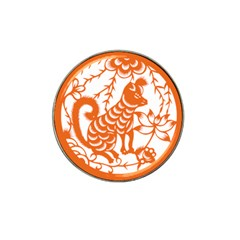 Chinese Zodiac Dog Hat Clip Ball Marker by Onesevenart