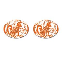 Chinese Zodiac Dog Cufflinks (oval) by Onesevenart