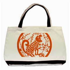 Chinese Zodiac Dog Basic Tote Bag by Onesevenart