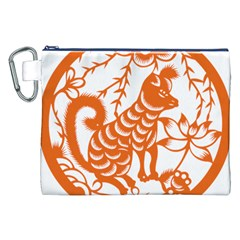 Chinese Zodiac Dog Canvas Cosmetic Bag (xxl) by Onesevenart