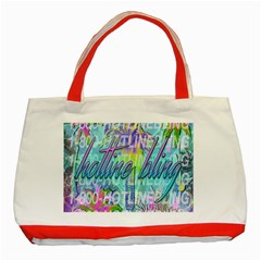 Drake 1 800 Hotline Bling Classic Tote Bag (red) by Onesevenart