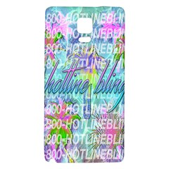 Drake 1 800 Hotline Bling Galaxy Note 4 Back Case by Onesevenart