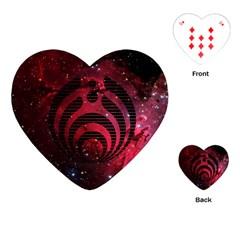 Bassnectar Galaxy Nebula Playing Cards (heart)  by Onesevenart