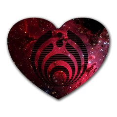 Bassnectar Galaxy Nebula Heart Mousepads by Onesevenart