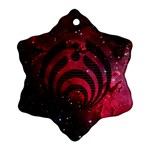 Bassnectar Galaxy Nebula Snowflake Ornament (Two Sides)