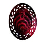 Bassnectar Galaxy Nebula Oval Filigree Ornament (Two Sides)