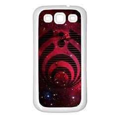 Bassnectar Galaxy Nebula Samsung Galaxy S3 Back Case (white) by Onesevenart
