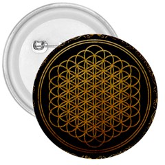Bring Me The Horizon Cover Album Gold 3  Buttons by Onesevenart