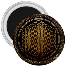 Bring Me The Horizon Cover Album Gold 3  Magnets by Onesevenart