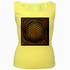 Bring Me The Horizon Cover Album Gold Women s Yellow Tank Top by Onesevenart