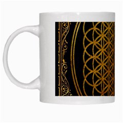Bring Me The Horizon Cover Album Gold White Mugs by Onesevenart
